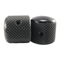 Telecaster Knobs Black Aluminum Set of 2 Thumb