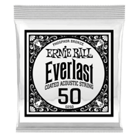 .050 Everlast Coated Phosphor Bronze Acoustic Guitar Strings 6 Pack Thumb
