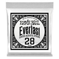 .028 Everlast Coated 80/20 Bronze Acoustic Guitar Strings 6 Pack Thumb
