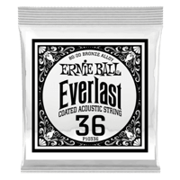 .036 Everlast Coated 80/20 Bronze Acoustic Guitar Strings 6 Pack Thumb