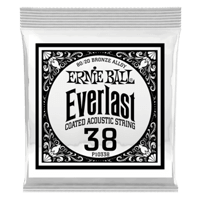 .038 Everlast Coated 80/20 Bronze Acoustic Guitar Strings 6 Pack Thumb