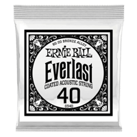 .040 Everlast Coated 80/20 Bronze Acoustic Guitar Strings 6 Pack Thumb