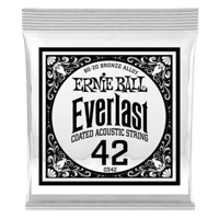 .042 Everlast Coated 80/20 Bronze Acoustic Guitar Strings 6 Pack Thumb