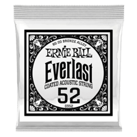 .052 Everlast Coated 80/20 Bronze Acoustic Guitar Strings 6 Pack Thumb