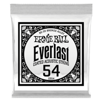 .054 Everlast Coated 80/20 Bronze Acoustic Guitar Strings 6 Pack Thumb