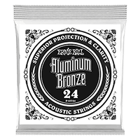 .024 Aluminum Bronze Wound Acoustic Guitar Strings 6 Pack Thumb