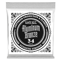 Paquet de 6 cordes .034 Aluminum Bronze Wound Acoustic  Thumb
