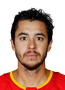 Johnny Gaudreau Face Photo on Ice
