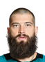 Brent Burns Face Photo on Ice