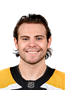 Jake DeBrusk Face Photo on Ice