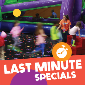 Last Minute Specials for 100% Private party at Pump It Up