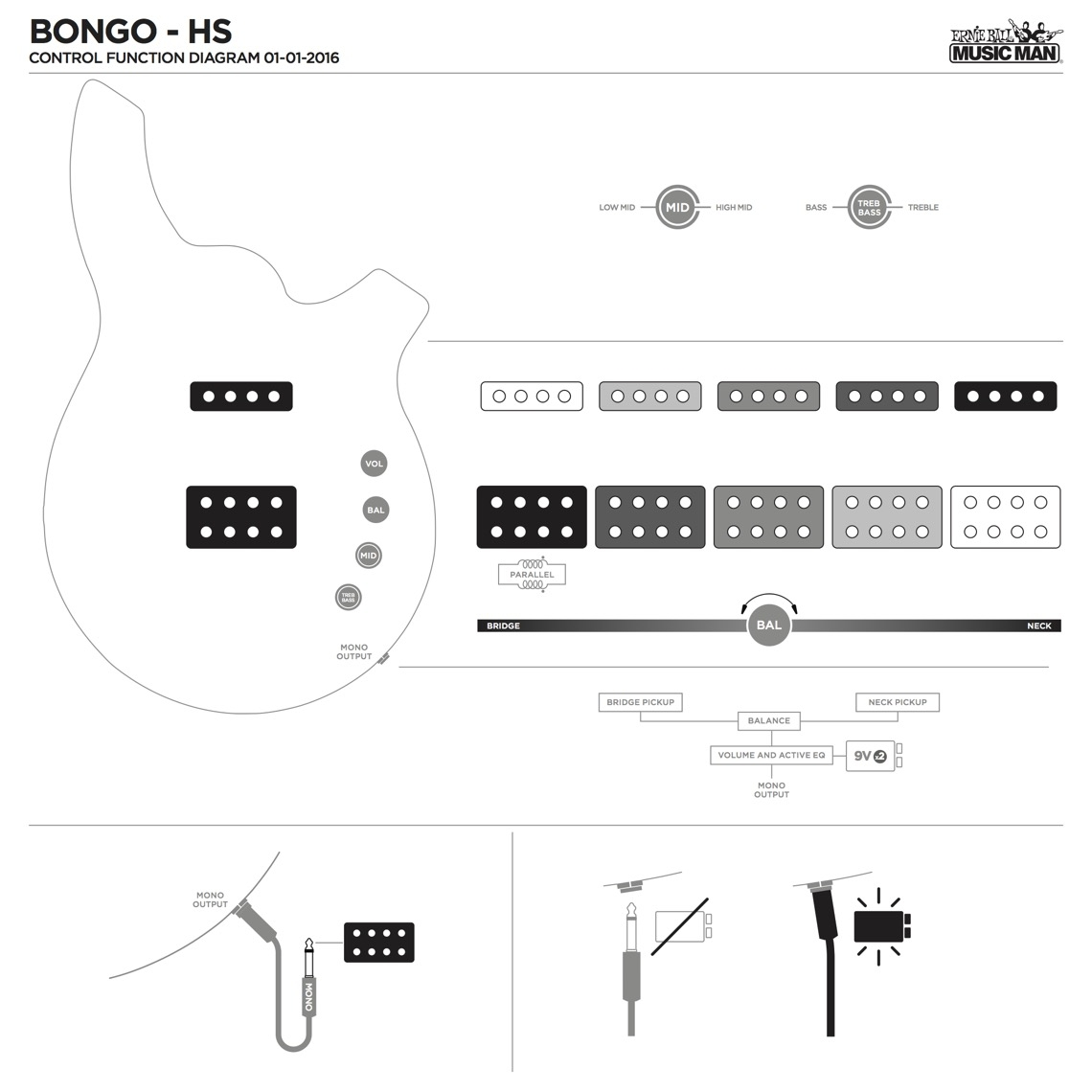 Bongo 6 Basses Ernie Ball Music Man Vendo 63 Wiring Diagram Pickup Configuration 1