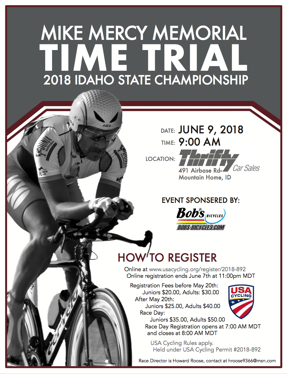 Mike Mercy Memorial Time Trial - Idaho State Championship