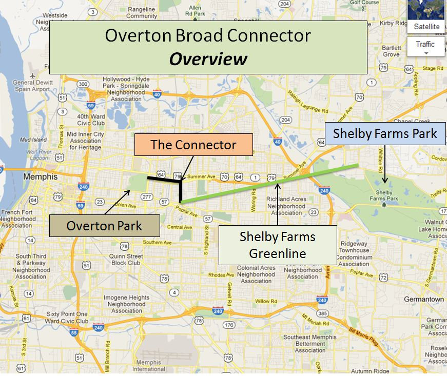 Memphis The Overton Broad Connector PeopleForBikes - Us i 40 map