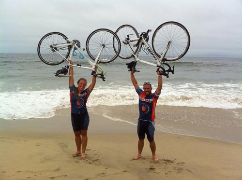 finishing ride in Half Moon Bay