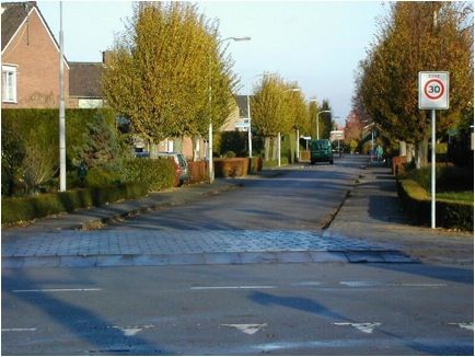 Streets like this are where most Dutch people live. They come in many design flavors, but quiet neighborhood streets make up the majority of the Dutch bicycling network.