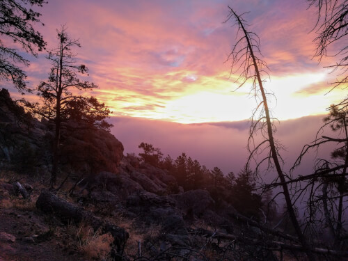 "We thought we were in a for a boring, cloudy,  ""sunrise"" hike.  But then...."