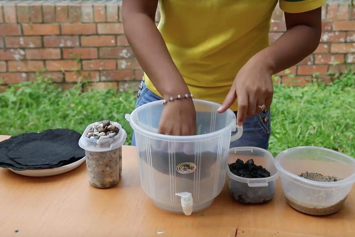 Filtro casero para el mejoramiento del agua del colegio 2016 - Filtros para grifos de agua ...