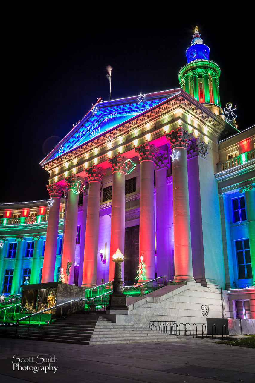 Denver County Courthouse at Christmas - The Denver County Courthouse at Christmas, Denver CO. by D Scott Smith