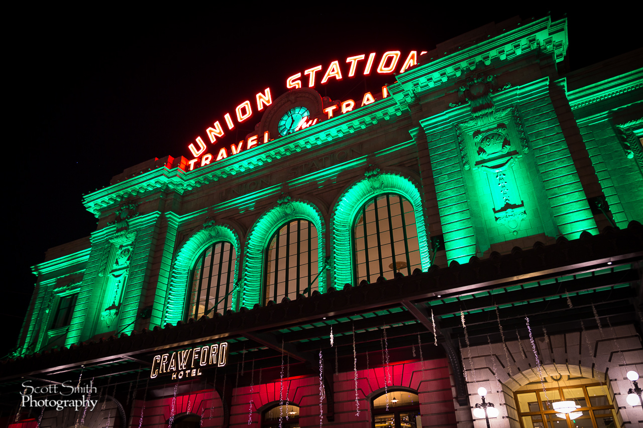 Denver Union Station at Christmas 1 - Union Station, Denver Colorado at Christmas by D Scott Smith