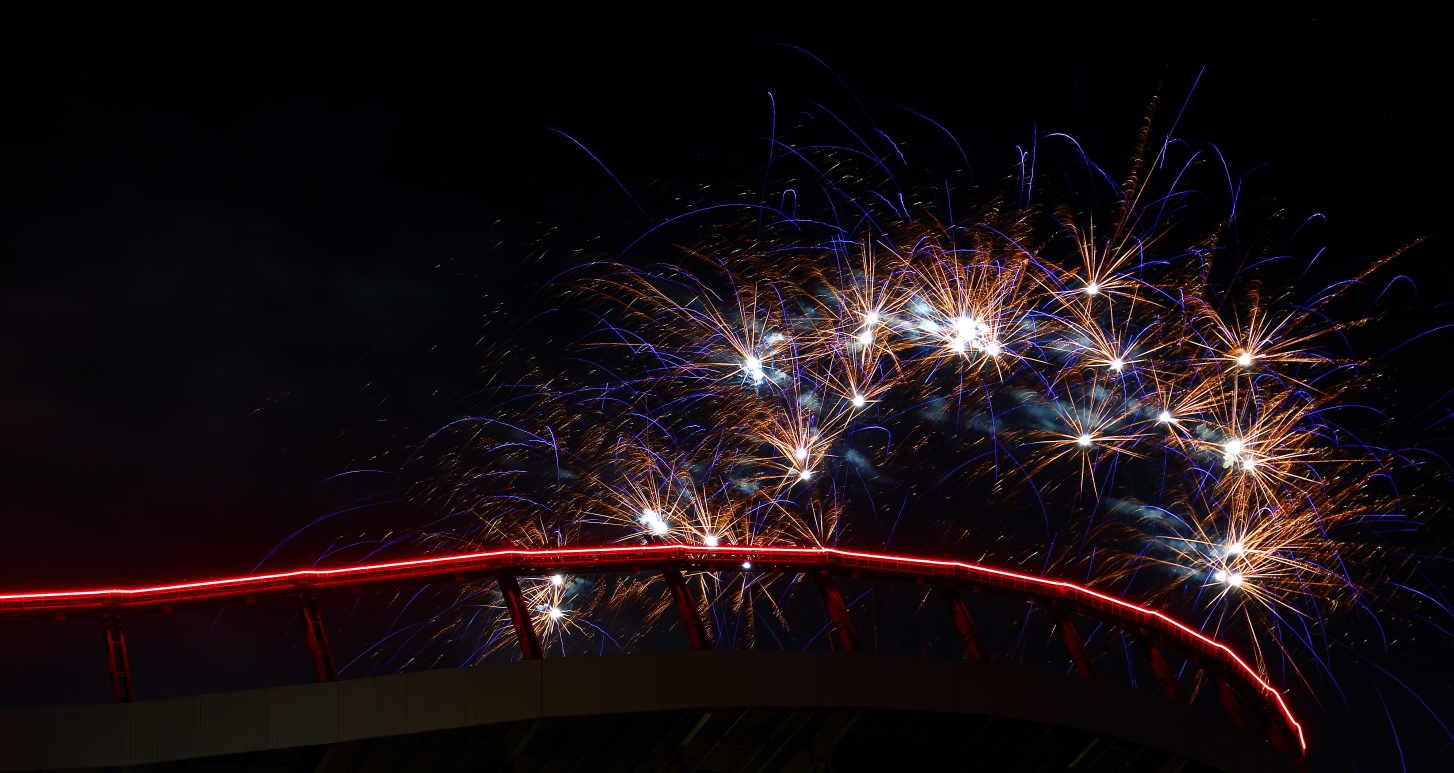 Mile High Fireworks - Fireworks over Mile High Stadium by D Scott Smith