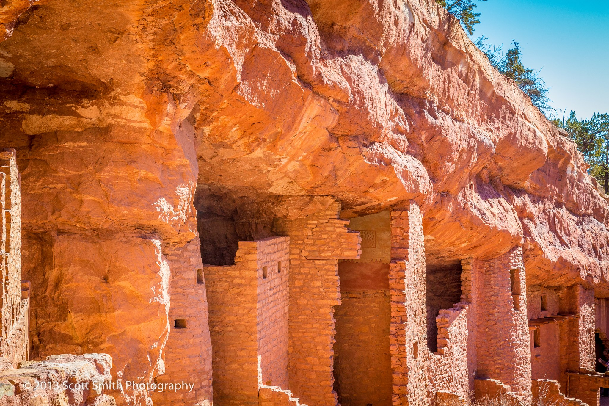Ancient Dwellings - The Manitou Cliff Dwellings, Colorado. by D Scott Smith