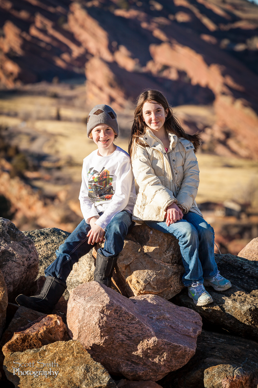 Allie and Holden Red-Rockin' - My kidlings taking a break from a day of Geocaching around Morrison, CO. by D Scott Smith