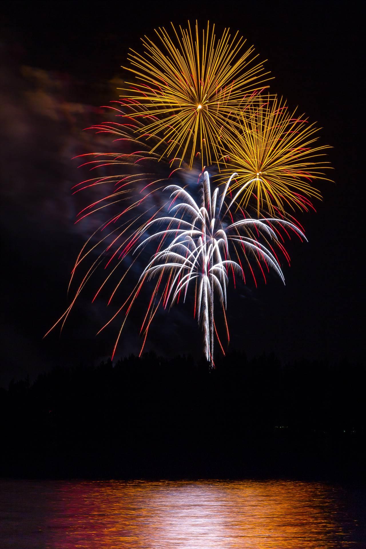 Dillon Reservoir Fireworks 2015 11 -  by D Scott Smith