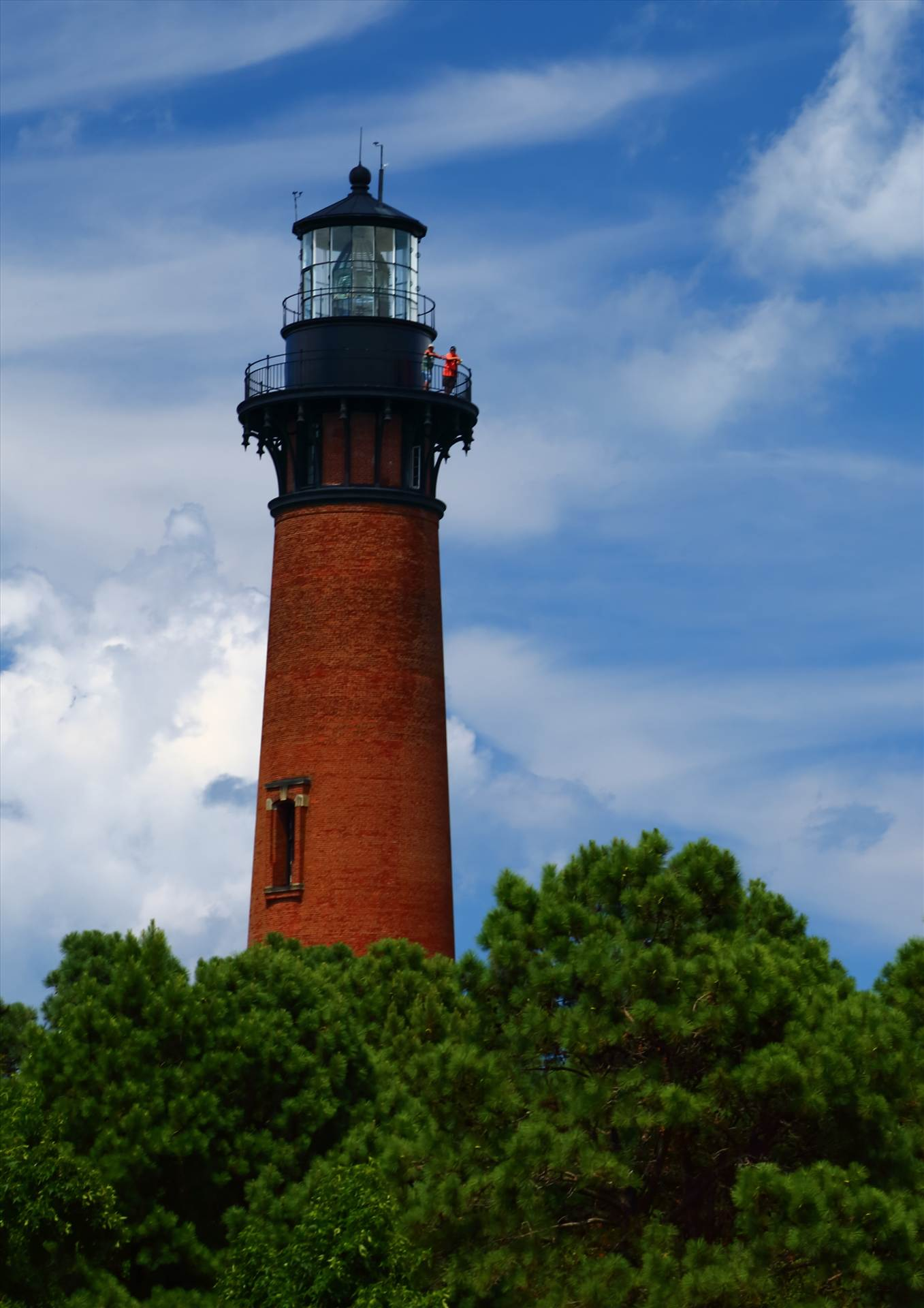 Currituck Lighthouse Through the Trees - Currituck, North Carolina Lighthouse by D Scott Smith