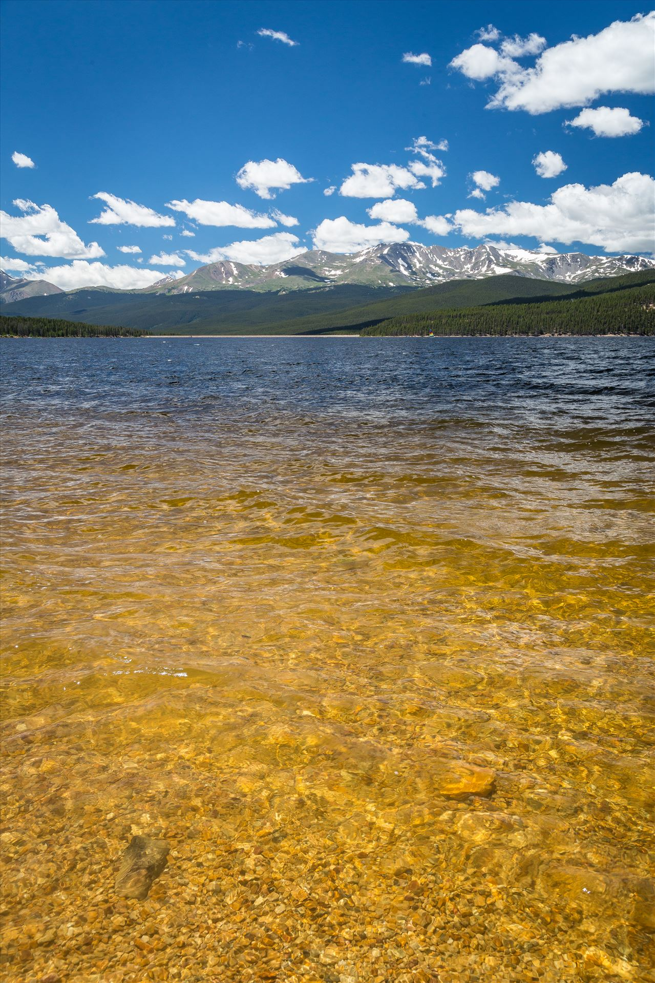 Clear Water at Turquoise Lake - Summer at Turquoise Lake, Leadville, Colorado. by D Scott Smith
