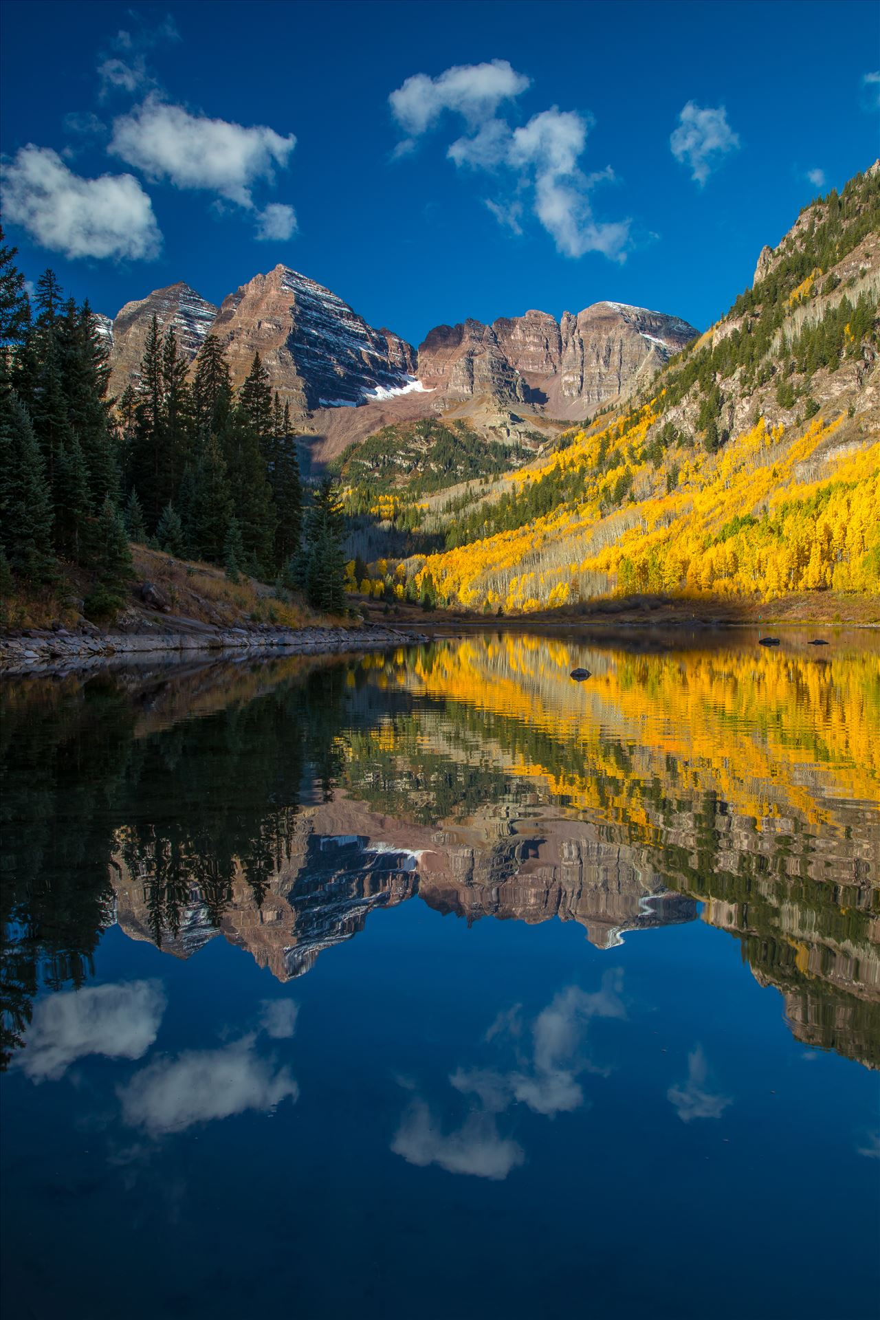 Maroon Bells and Maroon Lake No 1 -  by D Scott Smith