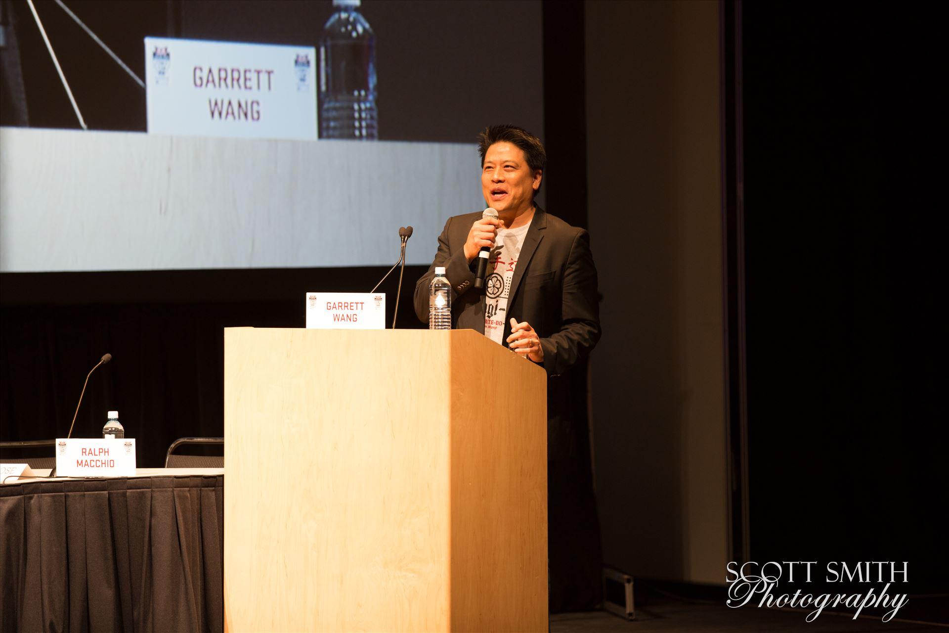 Denver Comic Con 2016 33 - Denver Comic Con 2016 at the Colorado Convention Center. Garrett Wang, Ralph Macchio, Martin Kove and William Zabka. by D Scott Smith