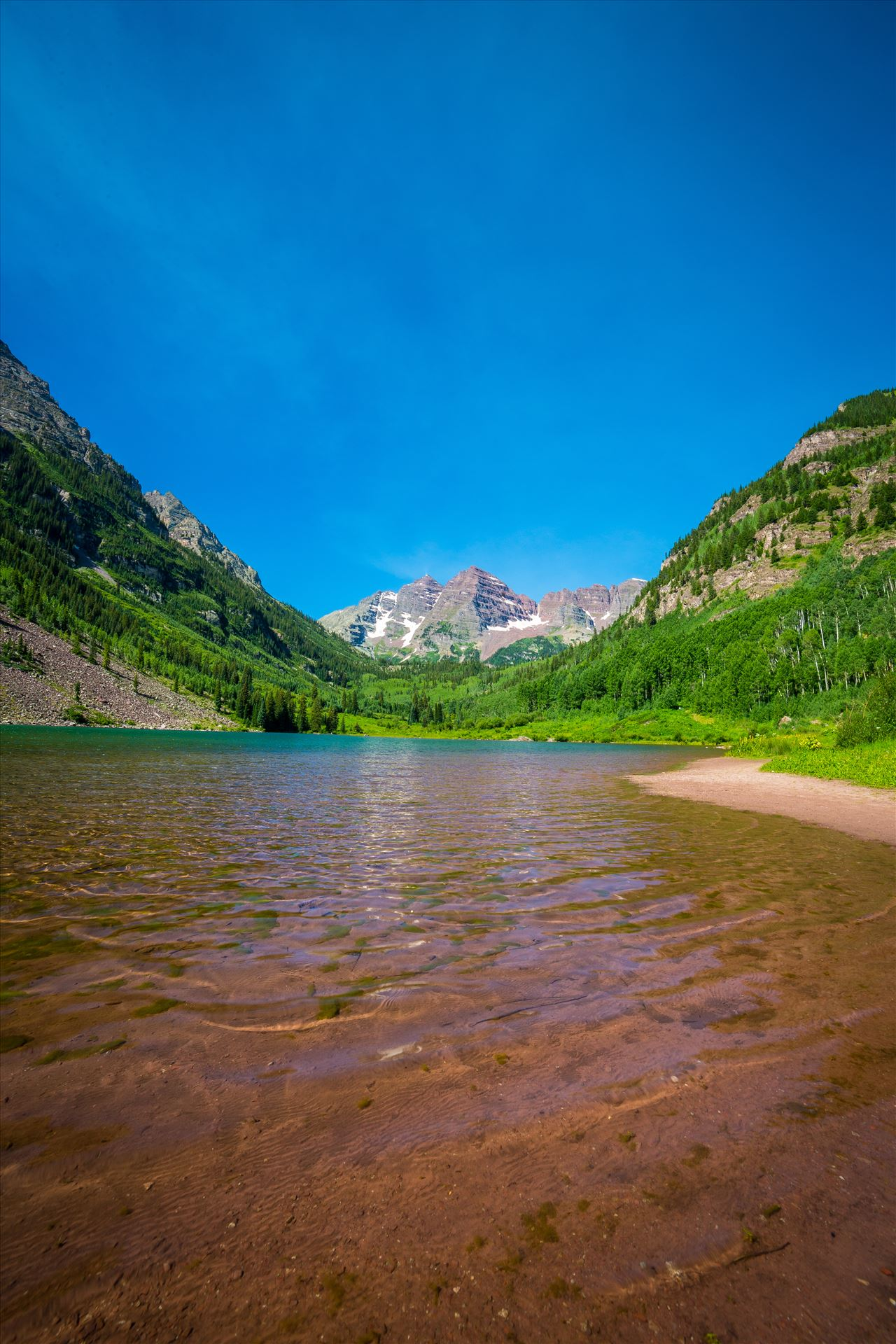 Maroon Bells in Summer No 12 -  by D Scott Smith