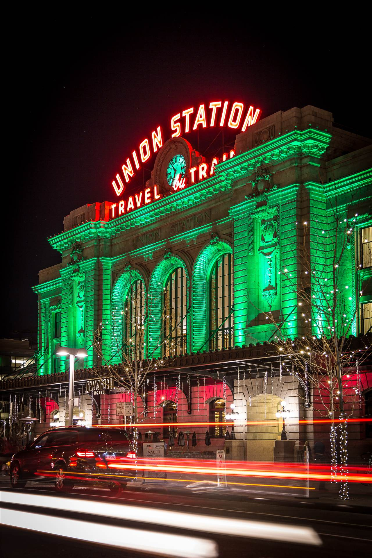 Denver Union Station at Christmas 2 - Union Station, Denver Colorado at Christmas by D Scott Smith
