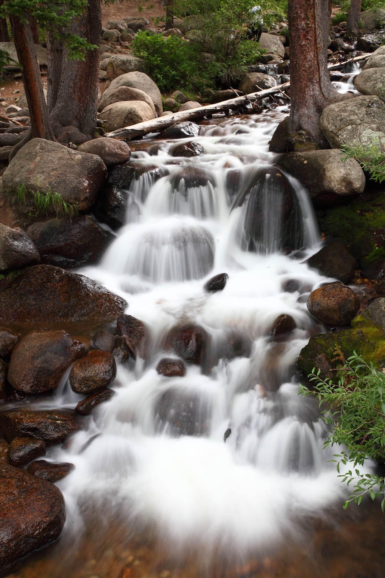 Mt Evans Waterfall II -  by D Scott Smith