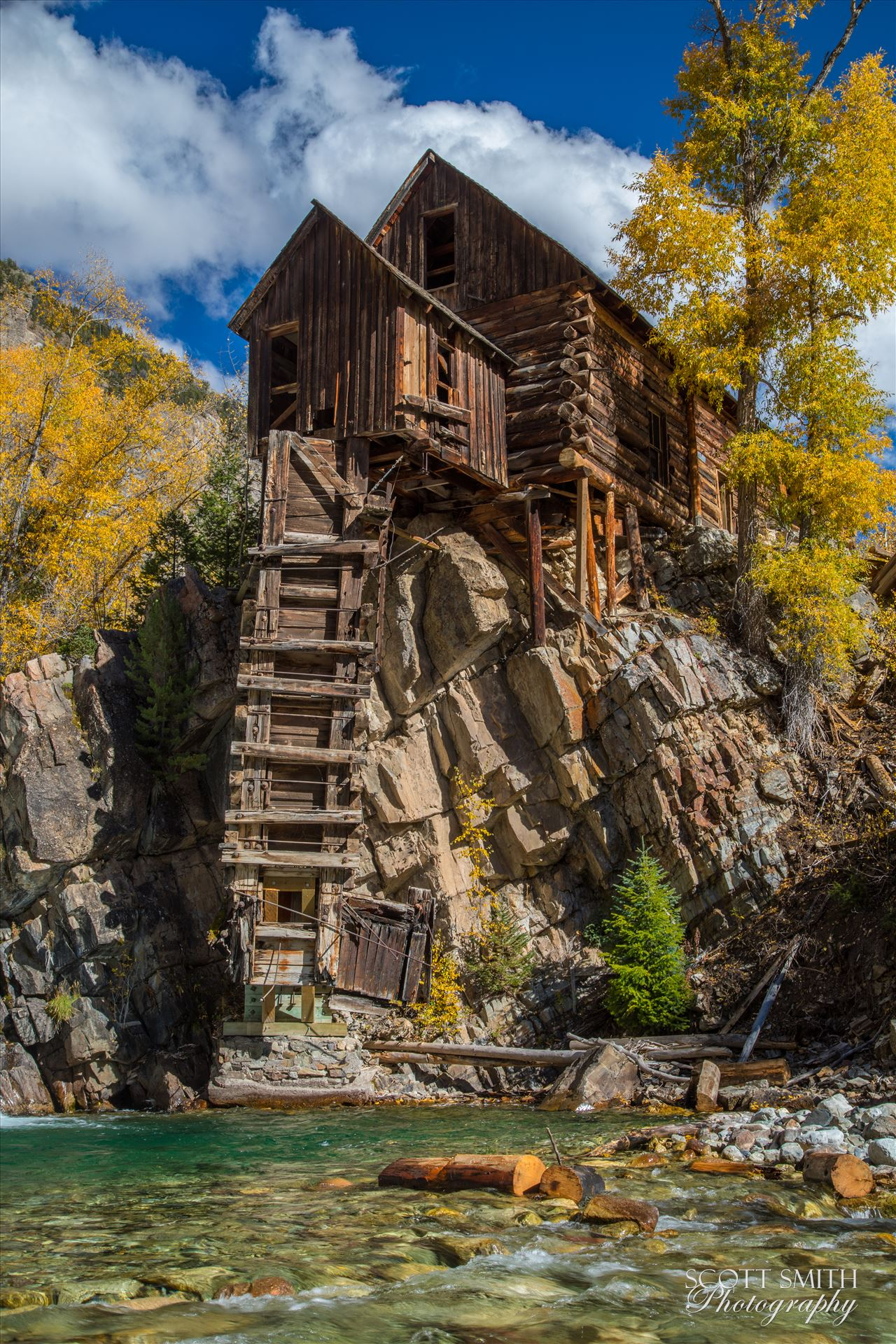 Crystal Mill, Colorado 14 - The Crystal Mill, or the Old Mill is an 1892 wooden powerhouse located on an outcrop above the Crystal River in Crystal, Colorado by D Scott Smith