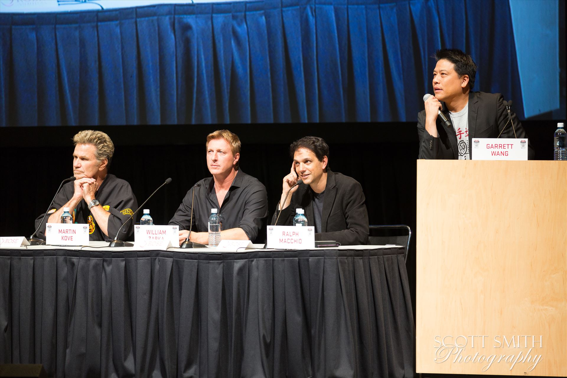 Denver Comic Con 2016 39 - Denver Comic Con 2016 at the Colorado Convention Center. Garrett Wang, Ralph Macchio, Martin Kove and William Zabka. by D Scott Smith