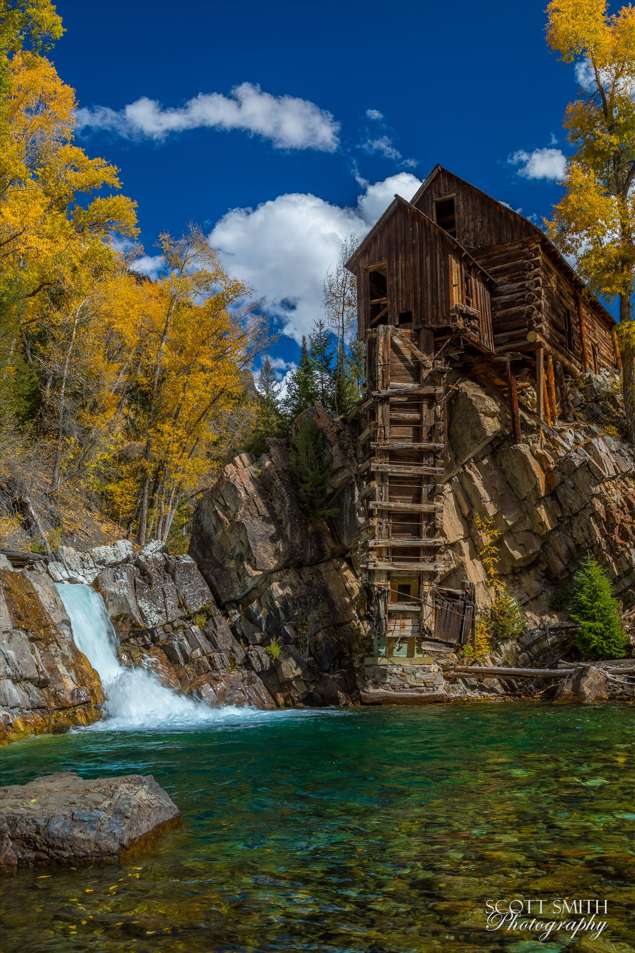 Crystal MIll No 3 - The Crystal Mill, or the Old Mill is an 1892 wooden powerhouse located on an outcrop above the Crystal River in Crystal, Colorado by D Scott Smith