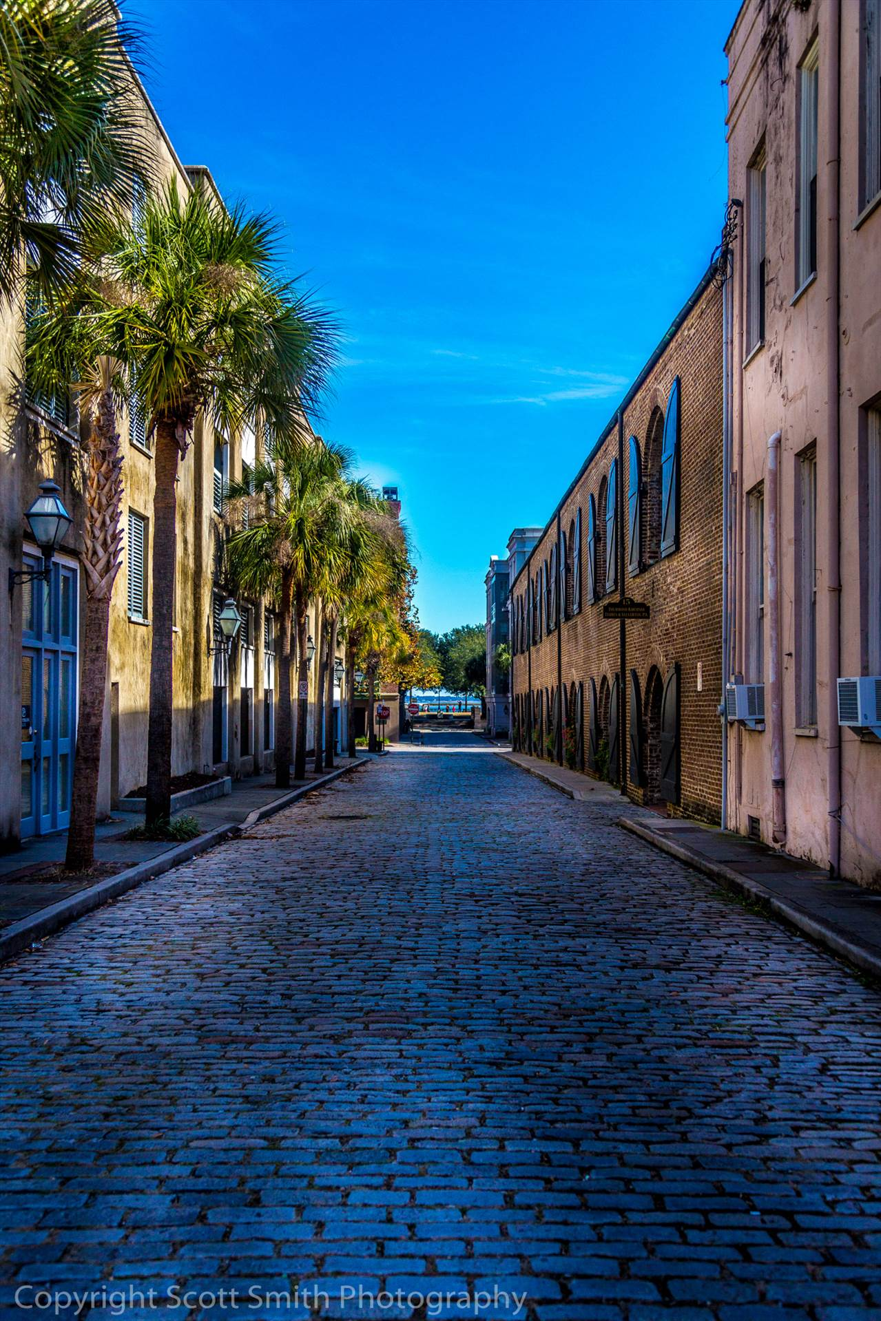 Cobblestone in Charleston -  by D Scott Smith