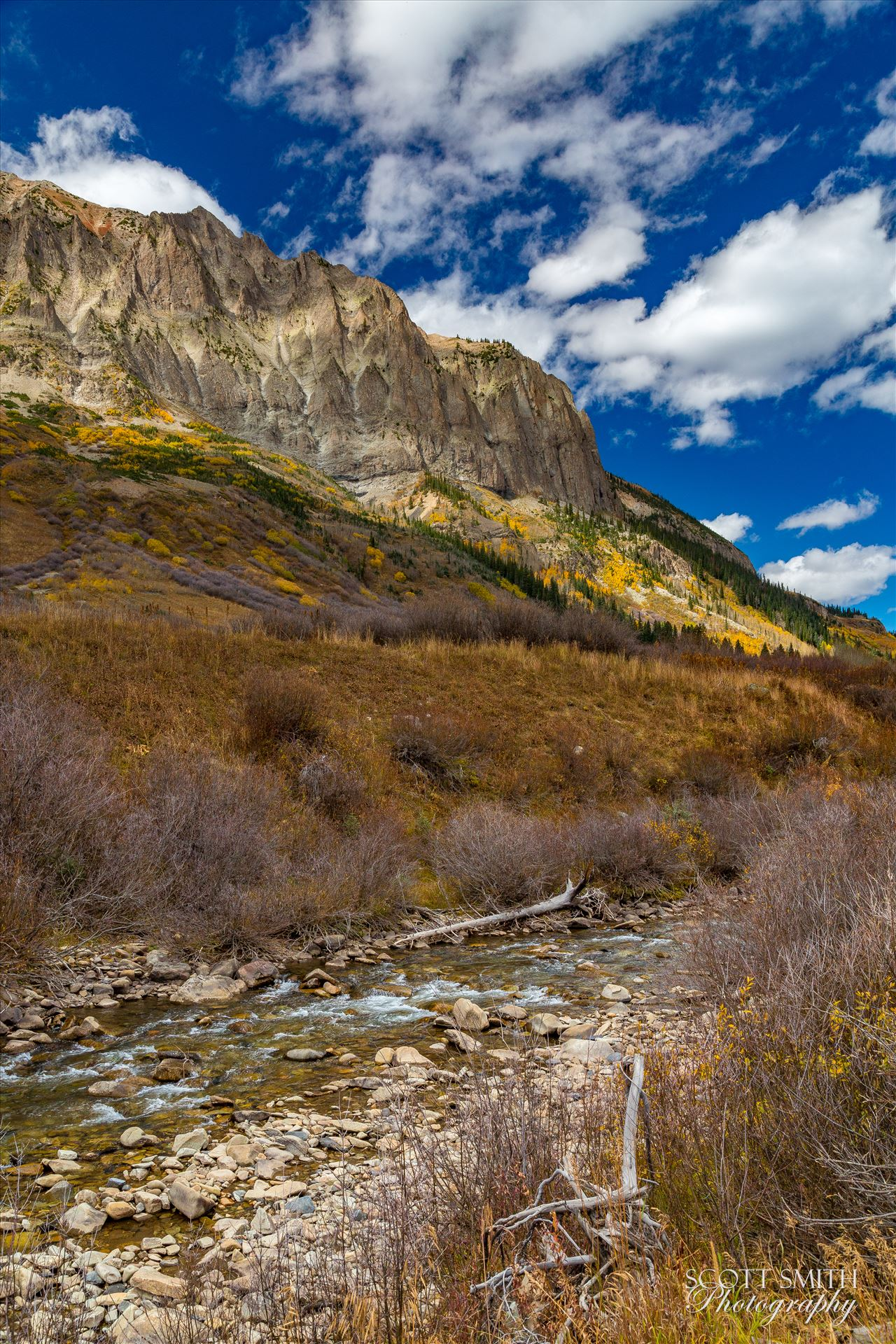 Gothic and East River - One of the small East River tributaries trickles past Gothic Mountain near Crested Butte, Colorado. by D Scott Smith