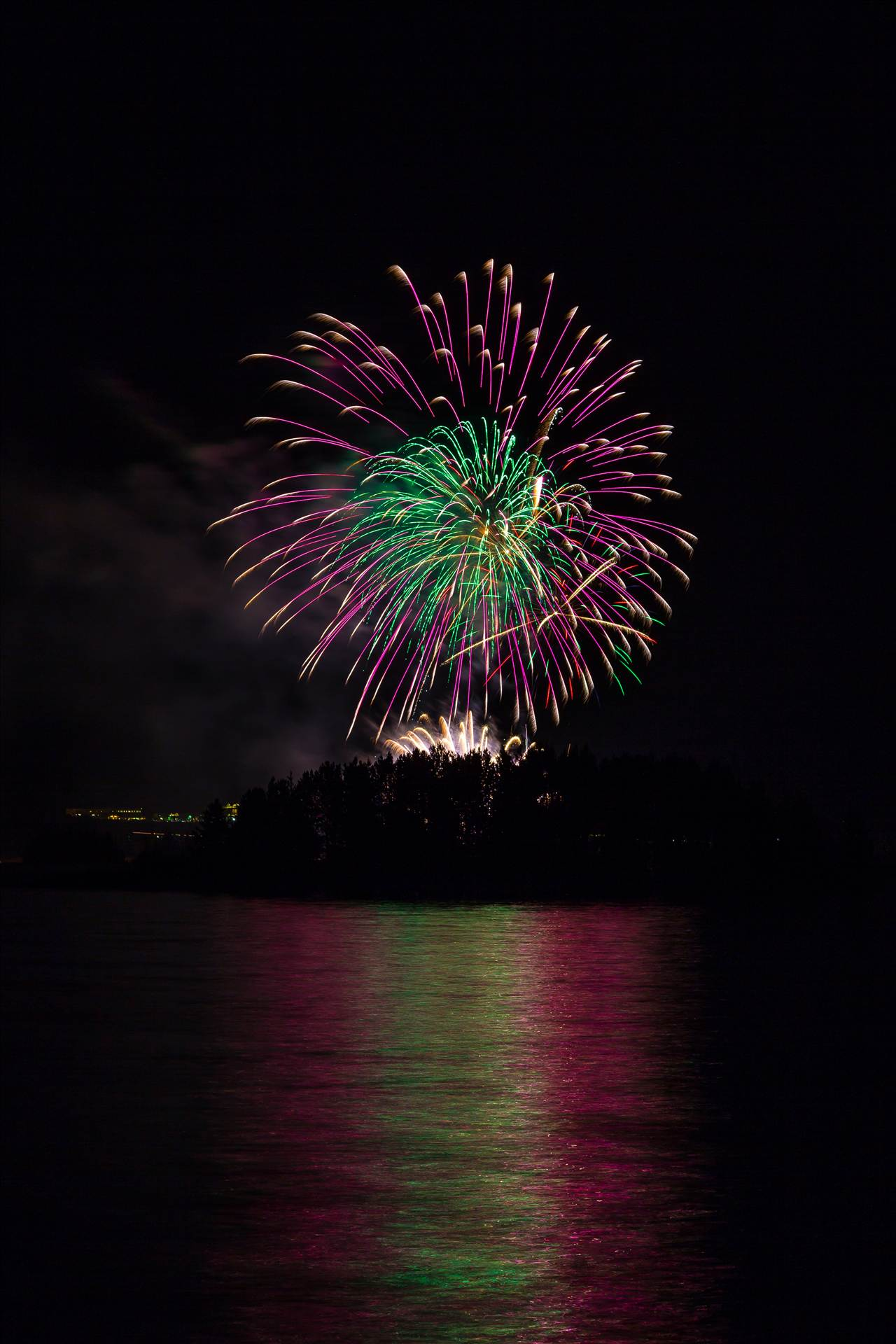 Dillon Reservoir Fireworks 2015 20 -  by D Scott Smith