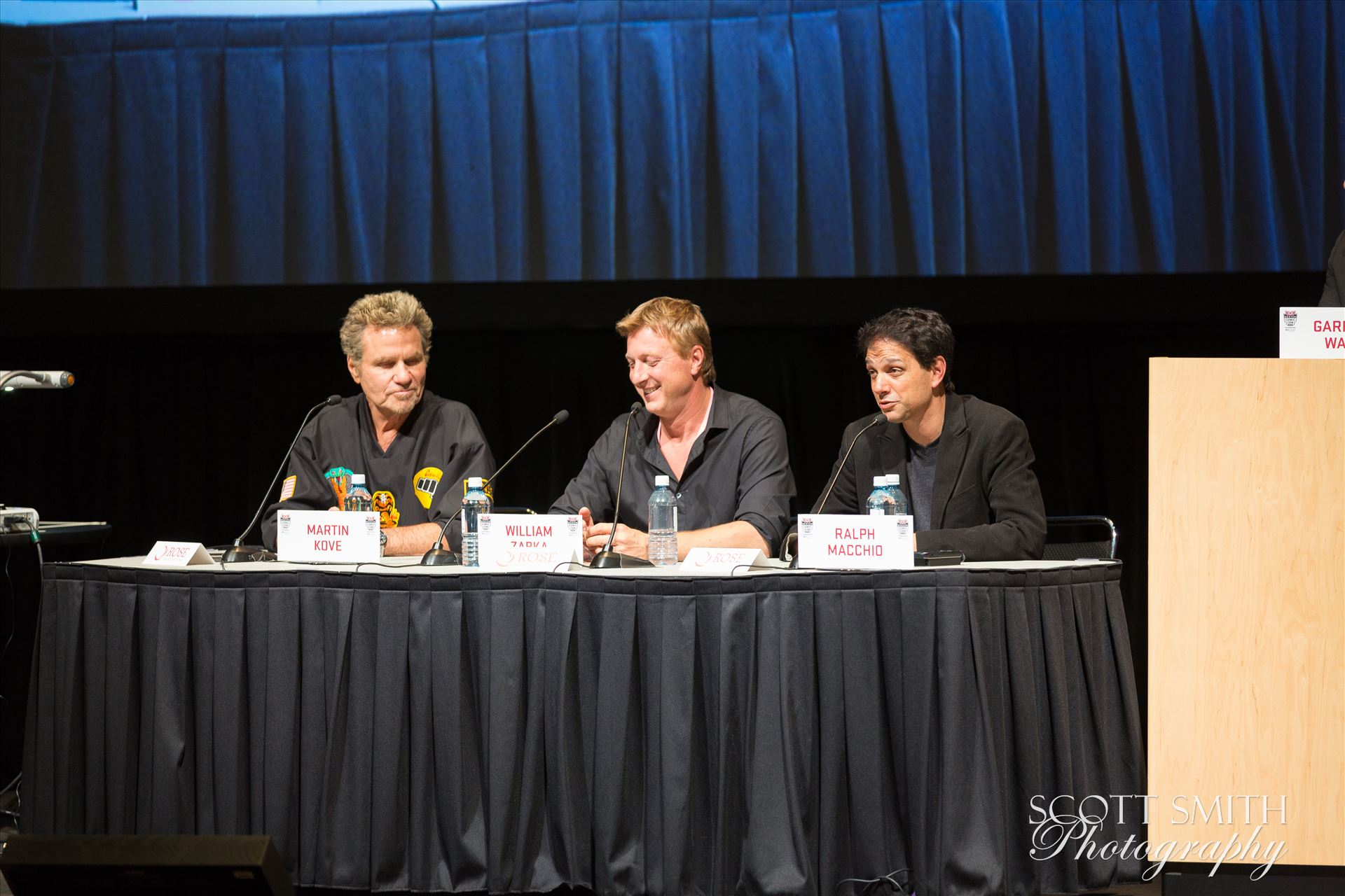Denver Comic Con 2016 41 - Denver Comic Con 2016 at the Colorado Convention Center. Garrett Wang, Ralph Macchio, Martin Kove and William Zabka. by D Scott Smith