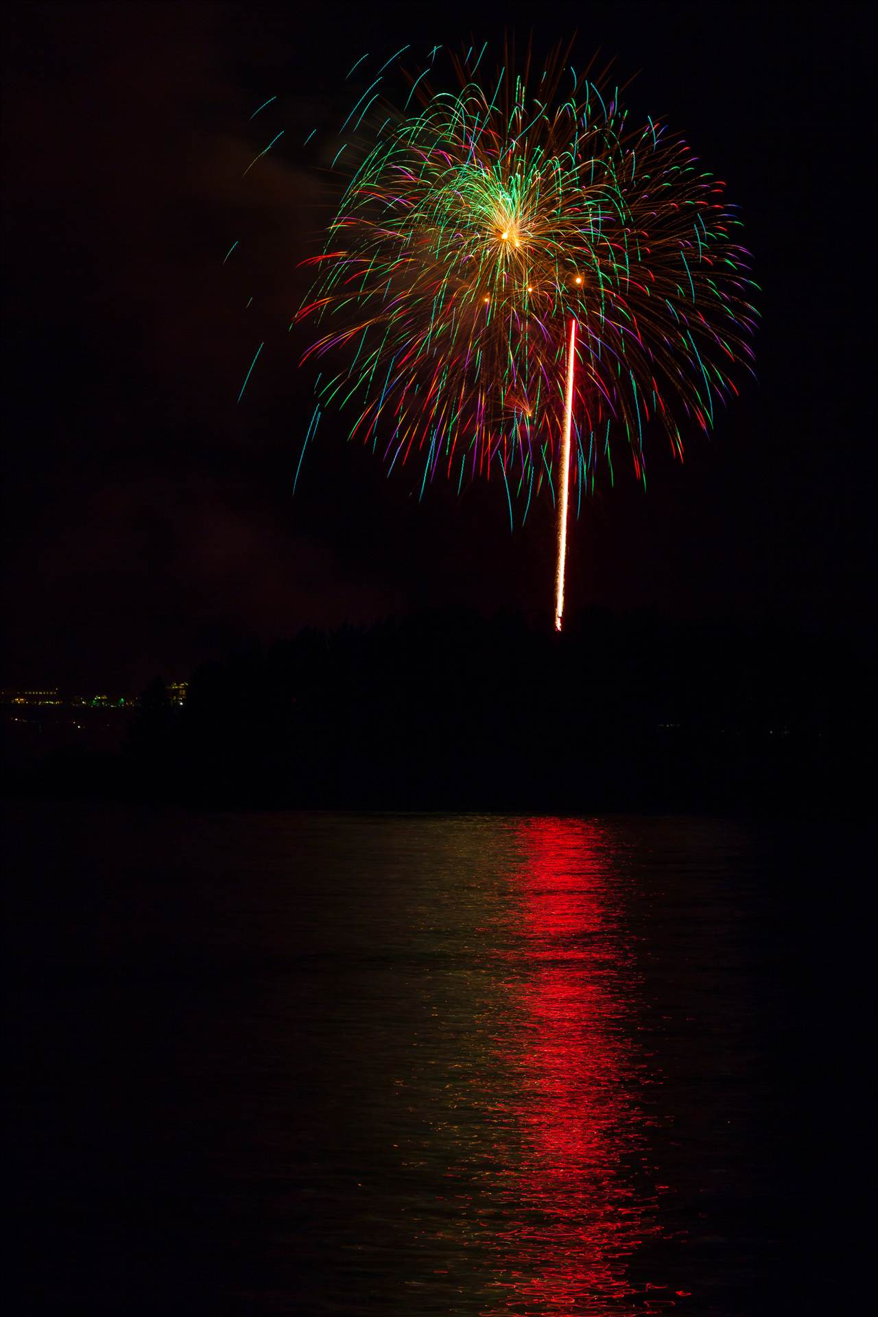 Dillon Reservoir Fireworks 2015 45 -  by D Scott Smith