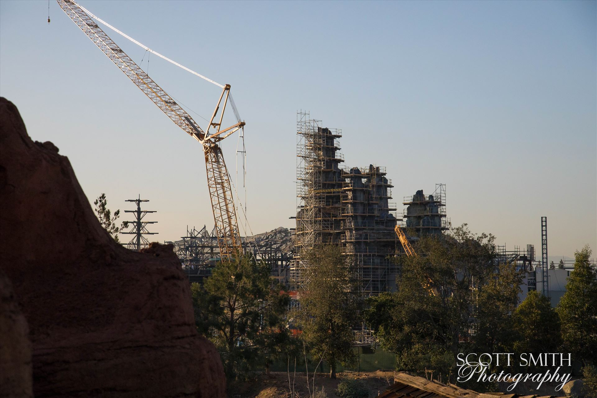 Star Wars Galaxy's Edge Construction at Disneyland - A rare photo of construction progress of the new Star Wars Galaxy's Edge park at Disneyland. by D Scott Smith