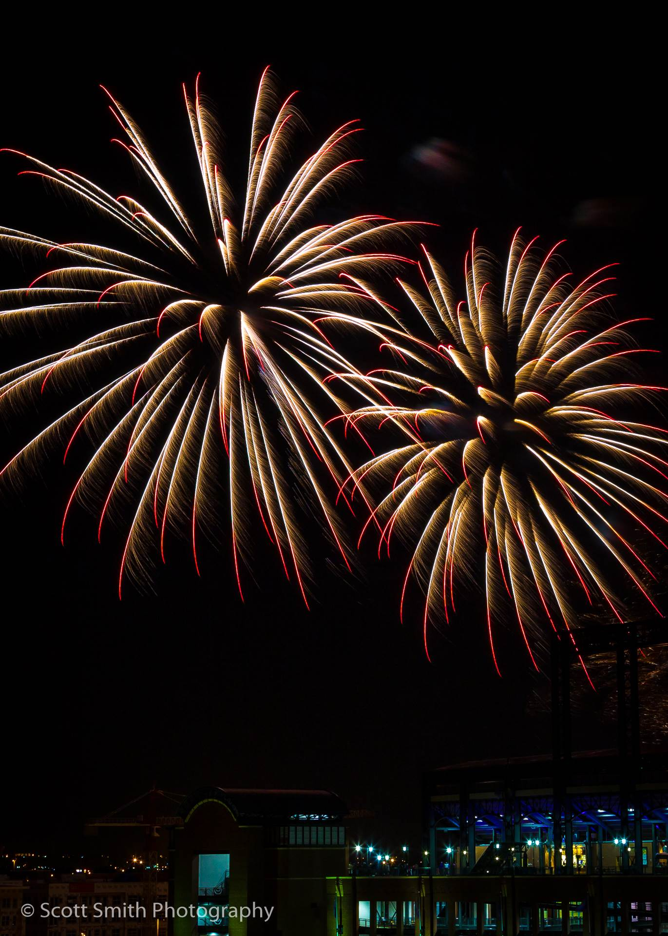 Fireworks over Coors Field 2 -  by D Scott Smith