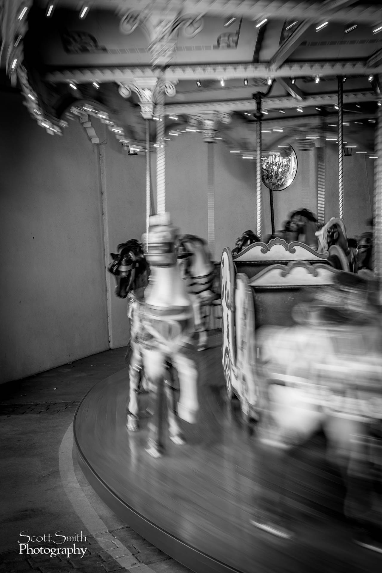 Elitches - Carousel -  by D Scott Smith