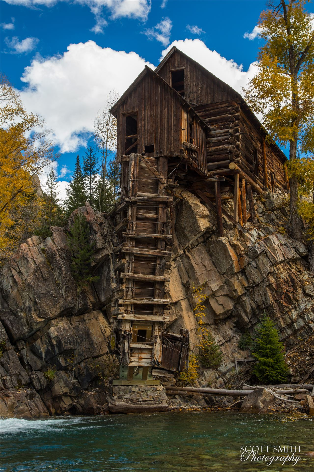Crystal Mill, Colorado 13 - The Crystal Mill, or the Old Mill is an 1892 wooden powerhouse located on an outcrop above the Crystal River in Crystal, Colorado by D Scott Smith
