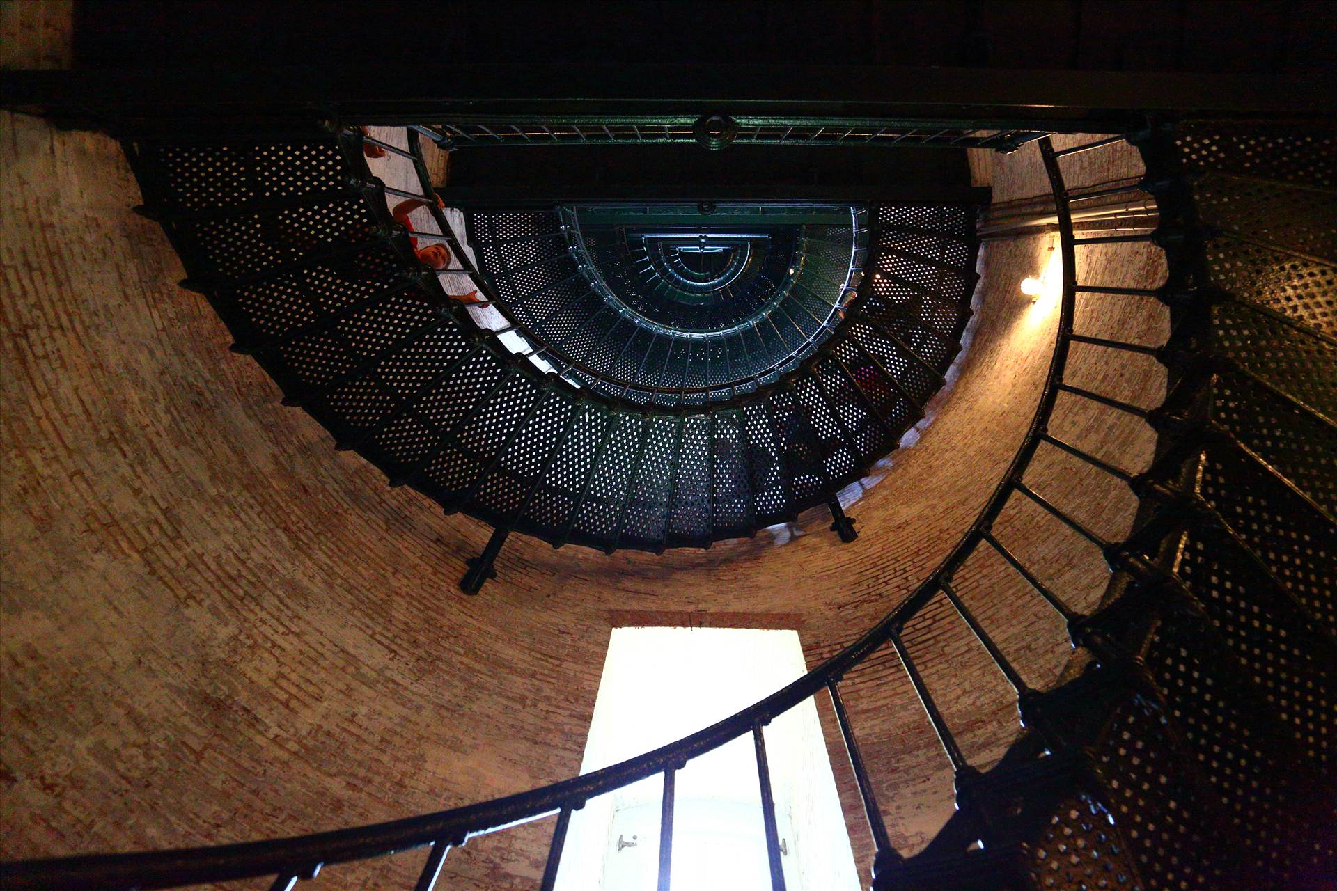 Currituck Lighthouse Steps - Steps leading up to the top of the lighthouse in Currituck, North Carolina. by D Scott Smith