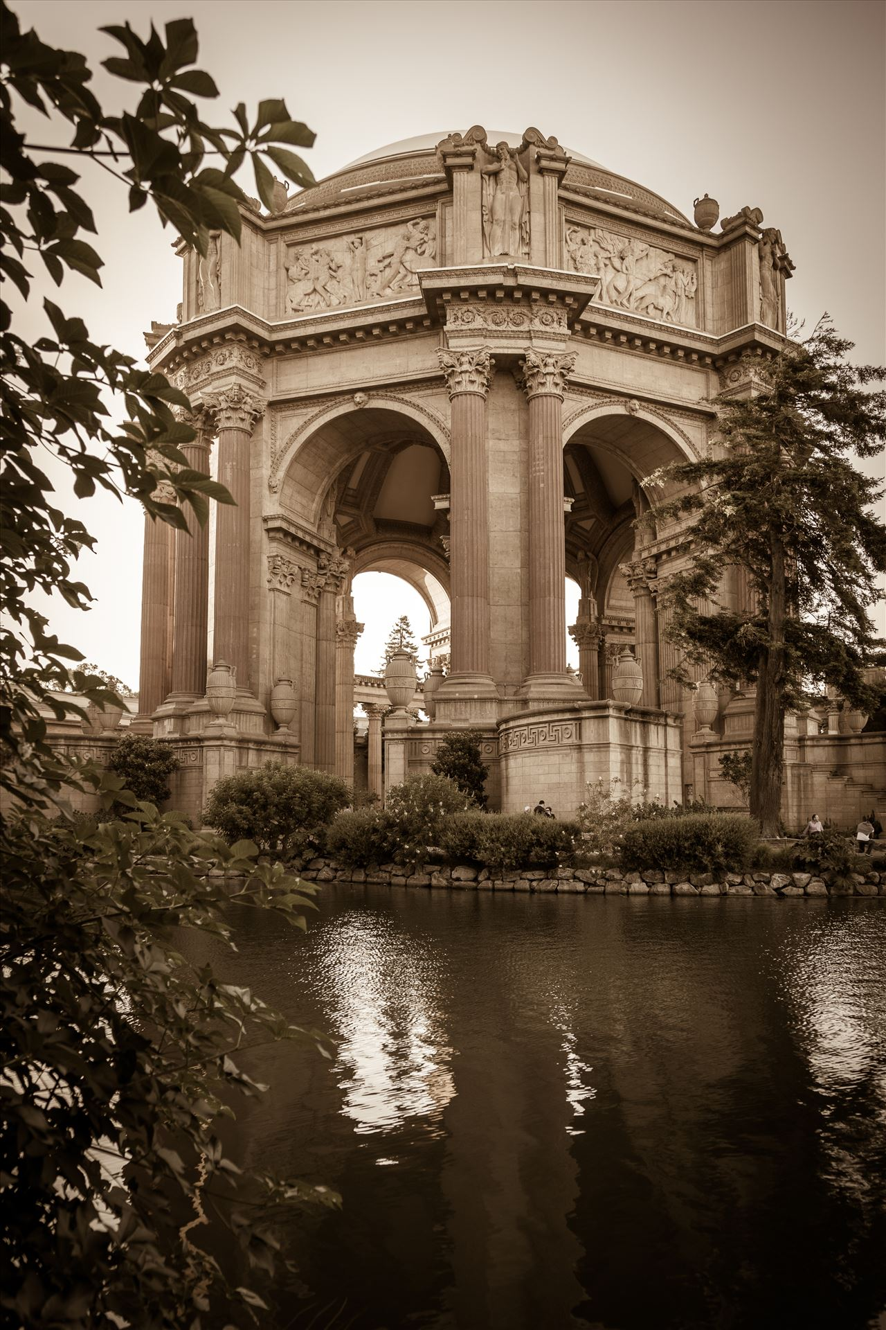 Palace of Fine Arts Sepia -  by D Scott Smith
