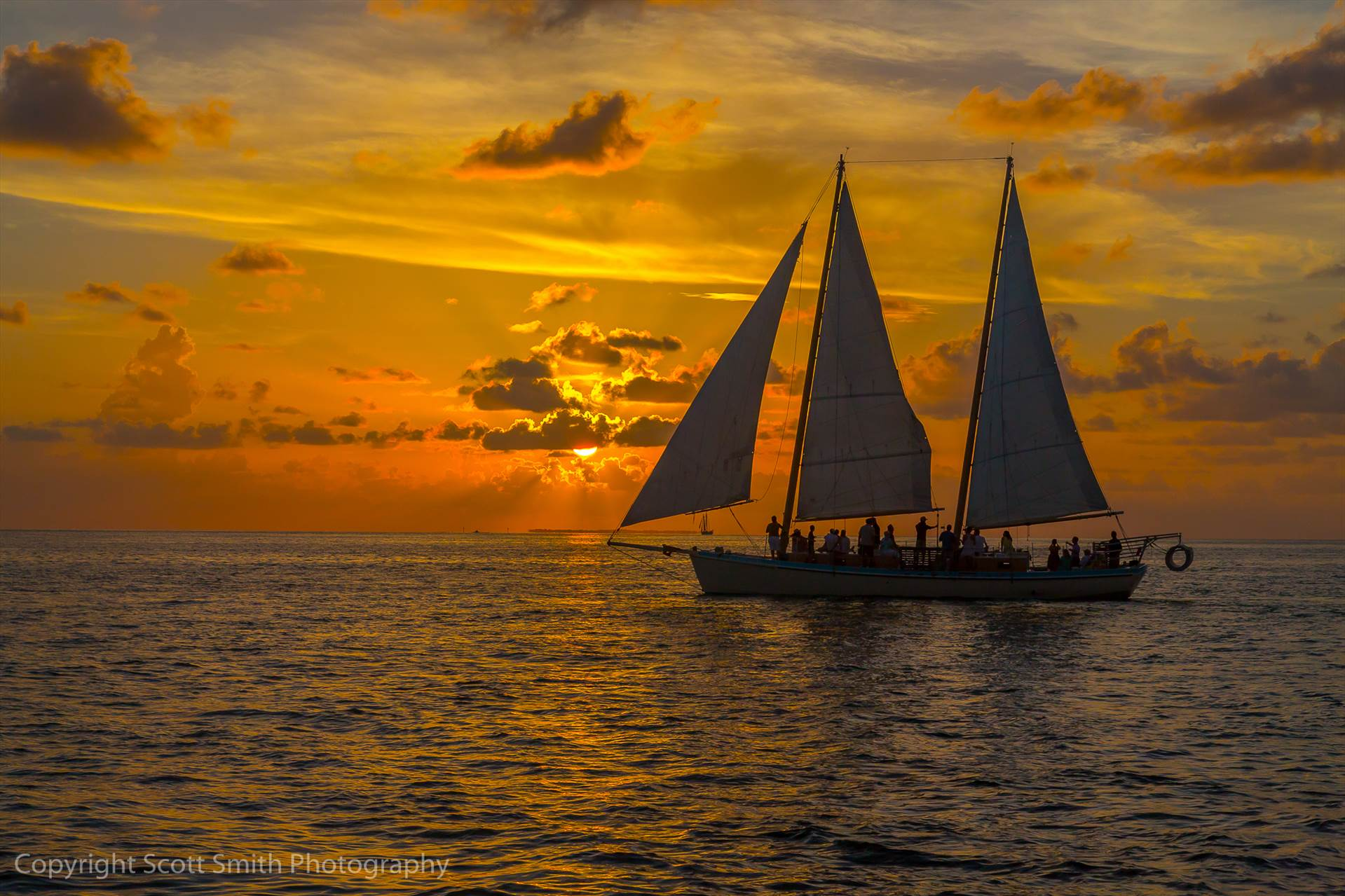 Key West Sunset 2 -  by D Scott Smith
